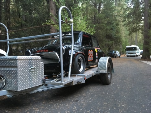 Rachel got to tow this Fortech Mini to the track to display!