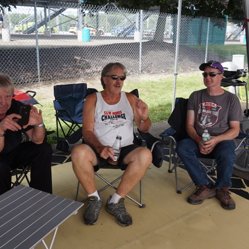Don Sobering, Randy McConnell, Andy Nelson 'chillaxin at the Toybox paddock