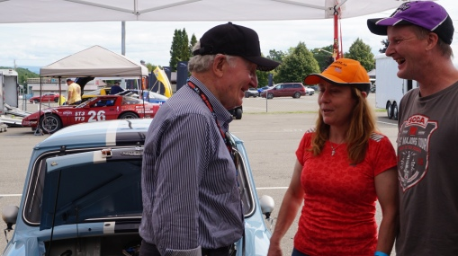 Paddy Hopkirk visits Toybox Racing during his Mini Paddock tour!