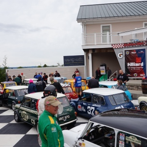 Minis flood into Victory Circle after the Governor's Cup race