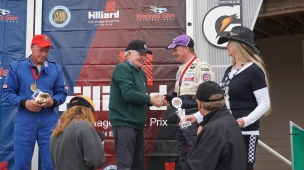 Paddy awarding Andy his 2nd place win in C-Sedan