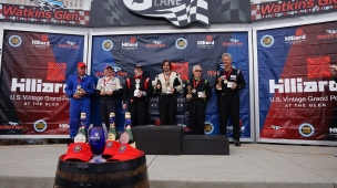 C-Sedan Class winners: Dave Morgan, Andy Nelson, Dennis Racine, Dylan Wittenauer, Don Racine, & Jamie Stiehr